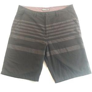 O'Neill black striped shorts Men's 36